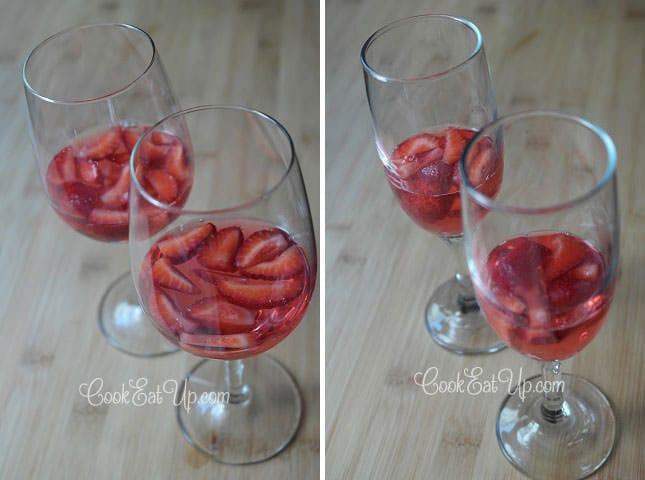 Ζελέ και μους φράουλας
