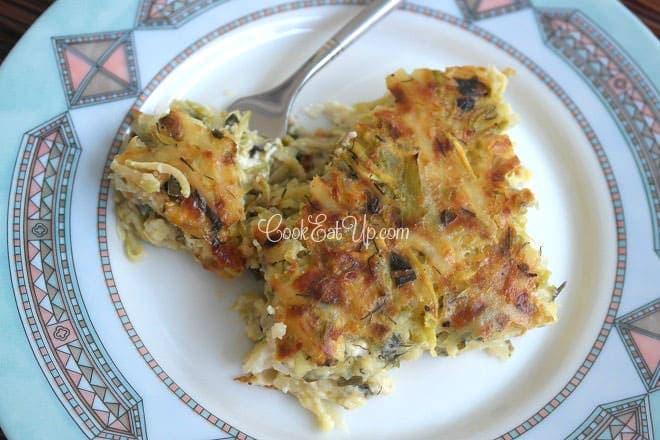 Σουφλέ με τυριά, πατάτες και κολοκυθάκια