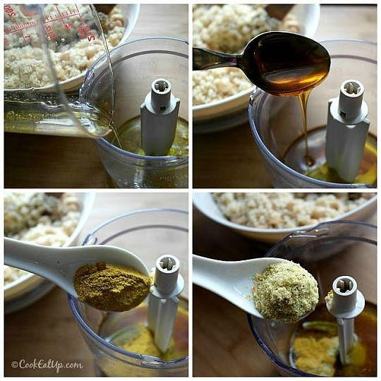 Ρεβύθια σαλάτα με κουσκούς και κάρυ