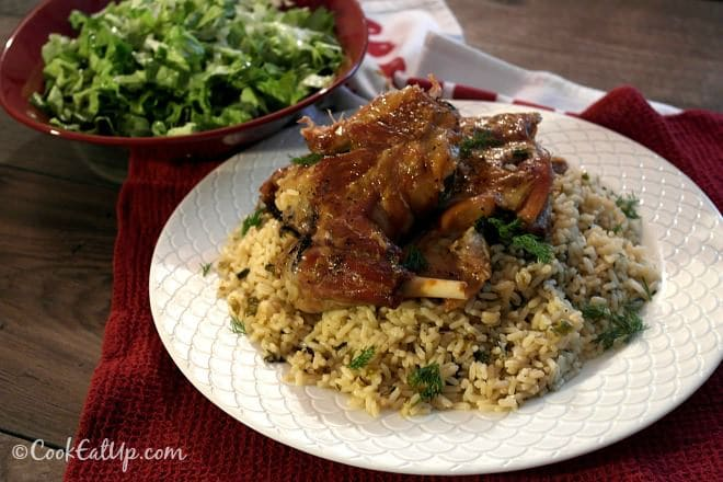 Greek Easter Lamb with Rice and Herbs