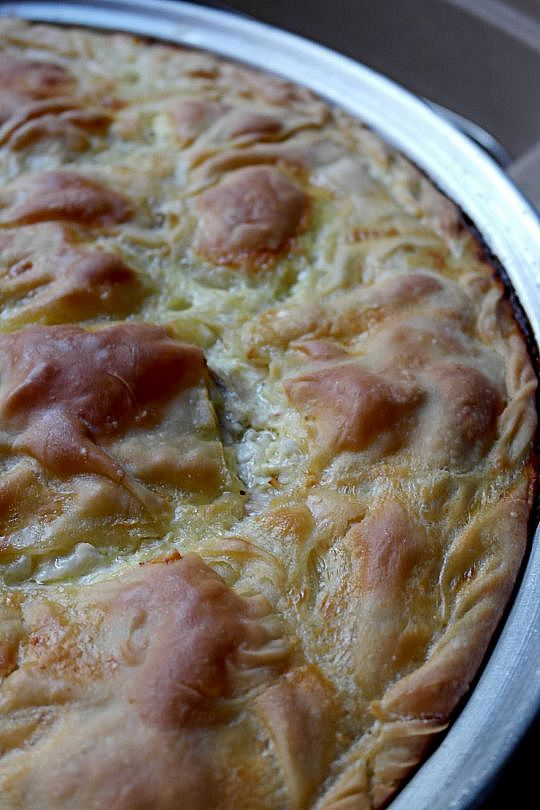 Chicken pie with trahana