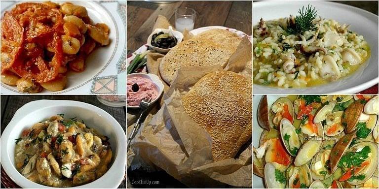 Το τραπέζι της Καθαράς Δευτέρας γεμάτο καλούδια και νοστιμιές