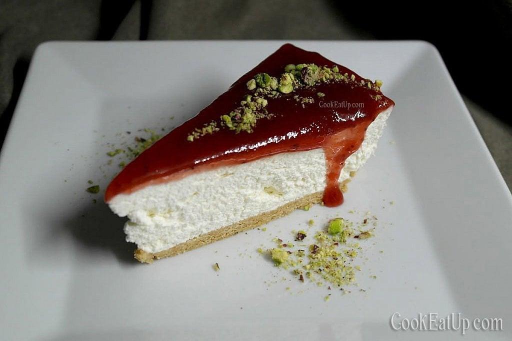 Τσίζκεϊκ φράουλα, εύκολα και γρήγορα