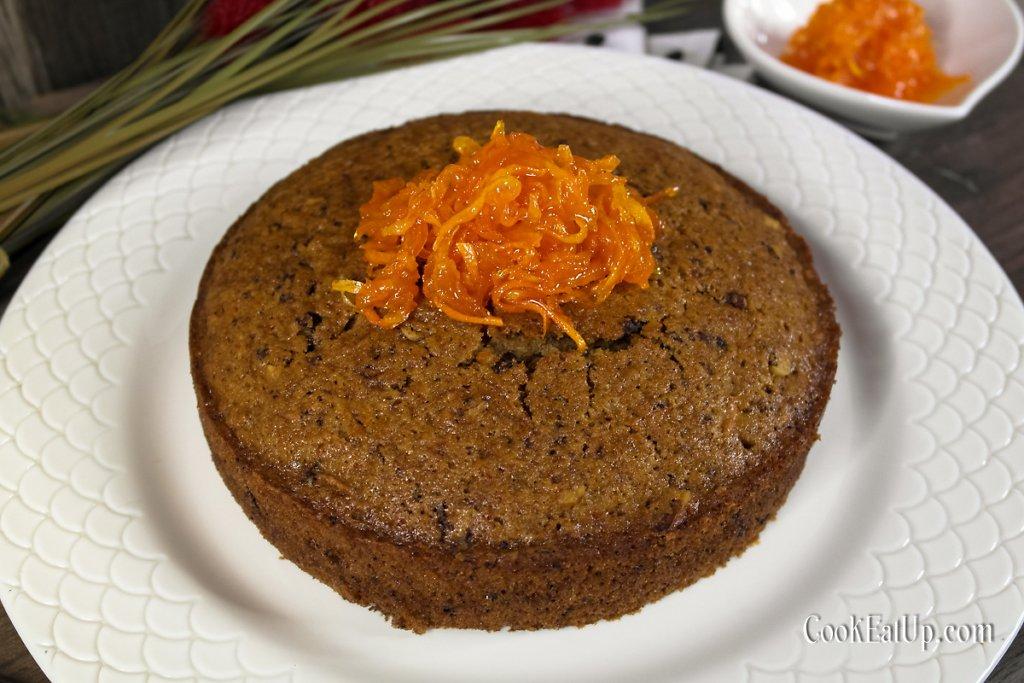 Νηστίσιμο κέικ καρότου με γλυκό κουταλιού καρότο