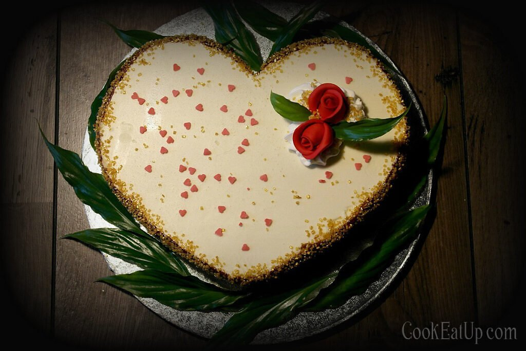 Triple layer chocolate mousse cake, for your Valentine