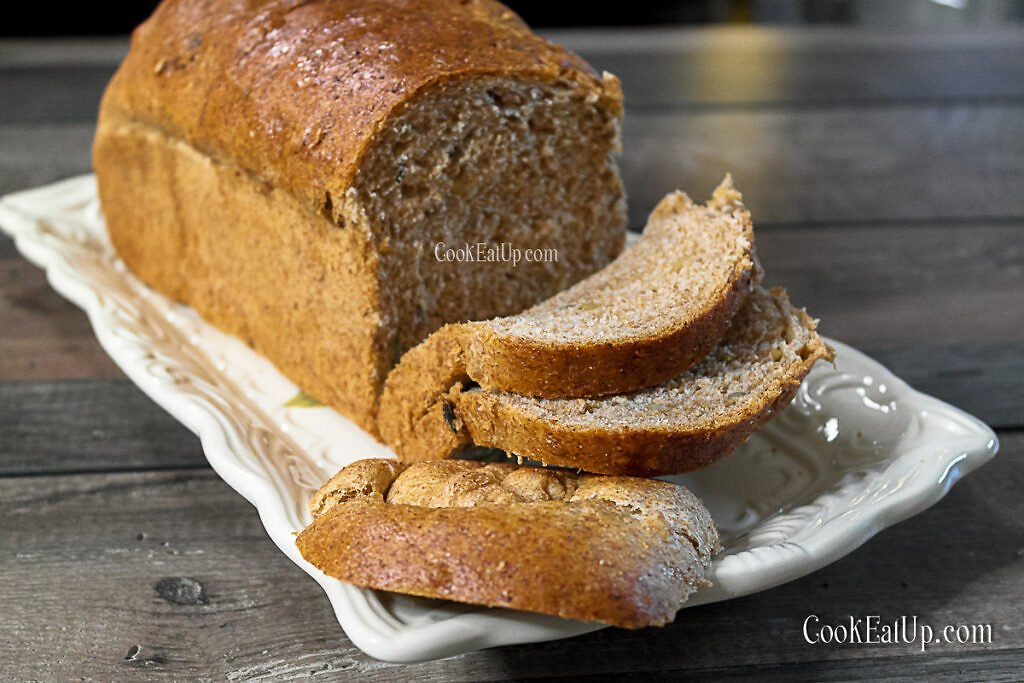 Το πιο αφράτο ψωμί για τοστ με αλεύρι ολικής άλεσης