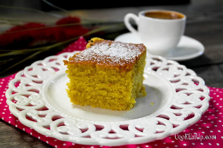 Αρωματικό κέικ πορτοκαλιού, νηστίσιμο